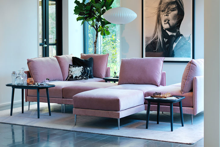 canap d angle rose osez une d coration moderne france canap. Black Bedroom Furniture Sets. Home Design Ideas