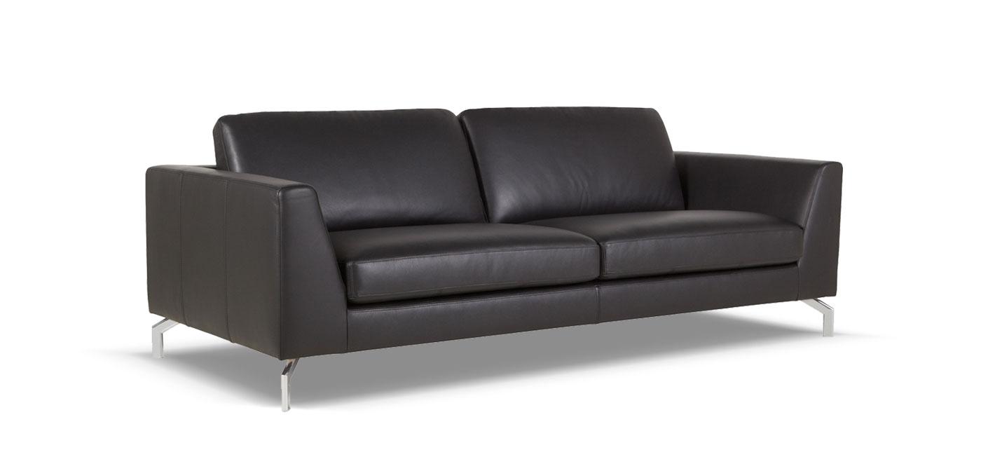 canap cuir 3 places haussmann france canap. Black Bedroom Furniture Sets. Home Design Ideas