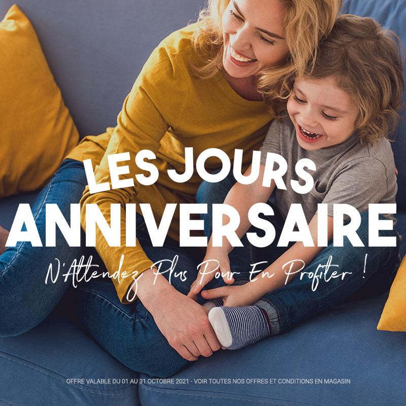 LES JOURS ANNIVERSAIRE FRANCE CANAPE - Jusqu'à -60%