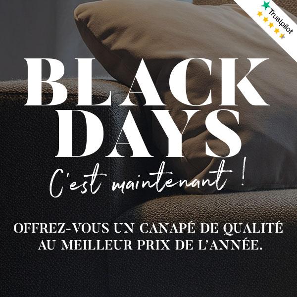 Black Days - Offrez-vous un canapé de qualité au meilleur prix de l'année