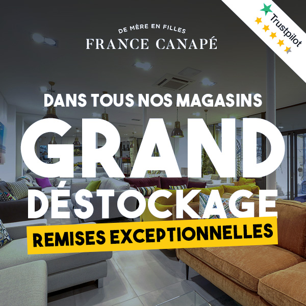 Destockage Canapé Canapé 4 places  Calvi Paris