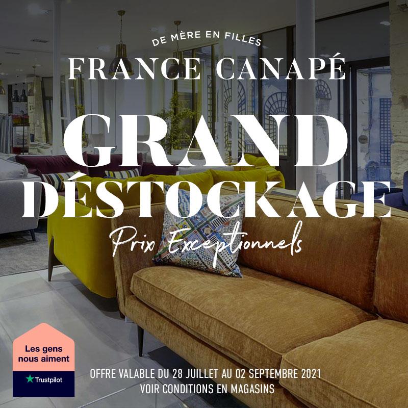 GRAND DESTOCKAGE D\ETE FRANCE CANAPE.