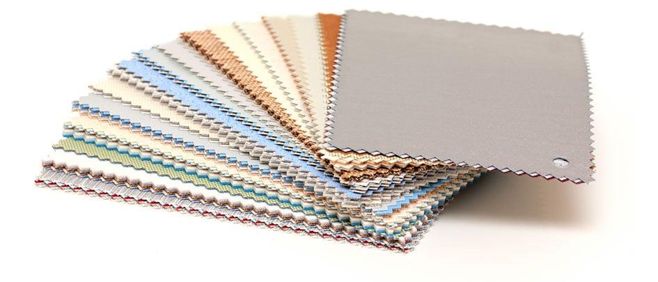 Plus de 250 coloris de tissus et matières